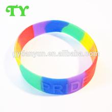 2013 fine craftmanship silicone embossed wristbands bangle