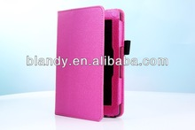 2014 New Arrival high quality print leather stand case for amazon kindle fire hd2
