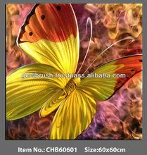 Hot Sale Metal Butterfly Crafts Animal Metal Wall Art Decor Painting 100% Handicraft in Popular Design
