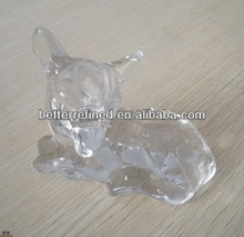 pressed clear glass sika deer figurine decoration