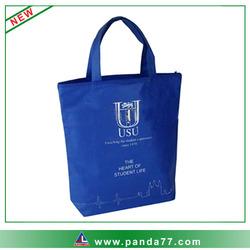 Blue cheap nylon foldable shopping bag