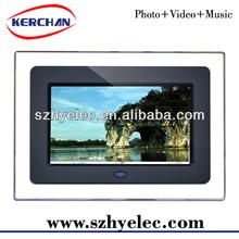 2013 white/black cheap digital frames,lcd digital picture frame(DPF9706D)