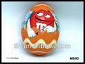 卵形のチョコレートのブリキの箱の包装