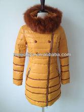 Customized Autumn Winter Women Long Straight Down Jacket