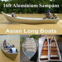 16ft Aluminium Sampans ~ Asian Long Boats ~ Aluminium Boats
