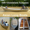 16ft Aluminium Sampans ~ Asian Long Boats ~ Aluminium Boats