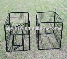 Iron Fence Dog Kennels