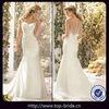 TBM6777 Fashion Designer Round Neck Sheath Sexy Wedding Dresses