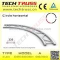 C40-dr03006h aluminium plat circulaire treillis, Arc de fermes de toit, Treillis rond