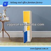 colorful steel Z shape bespoke wardrobes london