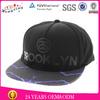 2014 Cotton Fabric Black Snapback Cap/Underbrim Printing 5 Panel Cap Hat
