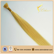 8 to 28 inch Length Available Double Drawn Blonde Color 613 Russian Human Hair Remy Virgin 6A Grade I Tip Hair Extension
