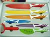 Non-stick color 7pcs kitchen knife set