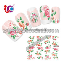 2014 new design fashion nail art sticker nail accesssories water slide decal paper