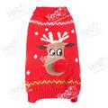 Natal 2013 rudolph lã de camisola do cão, pet malhas jumper popular