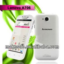 2013 hot selling Lenovo A706 Qualcomm Quad Core CPU 1.2GHZ 1GB RAM 4GB ROM 4.5 Inch IPS Screen phone