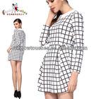Plaid Dress 3/4 Sleeved Dresses Fashion 2013 For Ladies
