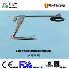 Reusable Medical surgery Throat laryngeal mirror Oblique ENT endoscope holder Self-Retaining Laryngoscope