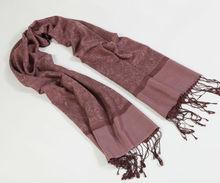 fine wool shawl and silk material 2014 new deisgn wool shawl wraps