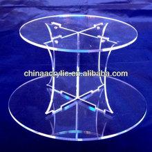 "Plain redonda de acrílico do bolo de casamento pilares& partido separador de bolo/stand- base 30cm/12"""