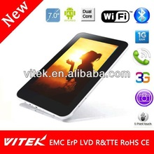 Hot selling Camera Dual Core IPS 7 inch tab pc with sim card slot