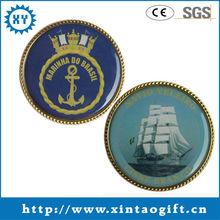 100% quality assurance custom souvenir coin with sticker
