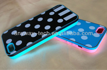 Hot Lovely Polka Dots TPU Soft fashion cheap silicon case For s3.s4