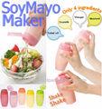 utensilios de cocina de plástico salsa shaker hacer deliciosa mayonesa de soja