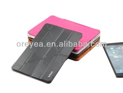 For ipad Air Leather folio case Factory outlet stander with Smart Cover Auto Wake/Sleep
