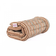 (Single) Blue/Brown Stripe Roll Up Bed