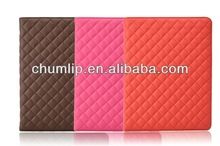 quilted PU case for ipad air