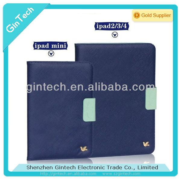 Beautiful birds leather cover for ipad2/3/4, for ipad mini case