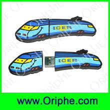 Promotional USB 2.0 PVC customed Gravity train usb flash memory(UPVC0011)