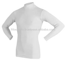 Crew Neck Women's Custom Lycra Compression Shirts/T Shirts