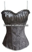 Beautifully Designed Elegant Brocade With Shirred Satin Sexy Overbust Corset
