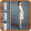 2014 Fashion White Women Ladies Dress Suits Plus Size