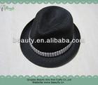 Black Paper Fedora Straw Hat -Unisex