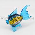 murano de cristal hechos a mano de los animales estatuilla artesanía de vidrio de los animales de vidrio decorativo de pescado