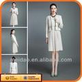 2014 moda para mujer blancas mujeres del vestido de traje Formal Wear