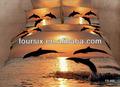 imprimir 3d delfín lecho 4 pcs pcs 6 para venta al por mayor de ropa de cama funda nórdica falda de la cama funda de almohada cojín rey reina conjunto ropa de cama