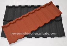 South Africa Building Material stone coated metal roof tile / 0.4mm Excellent stone coated roof tile (New Sunlight Brand)