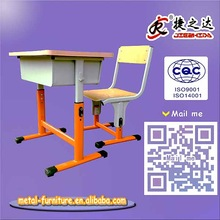 Best quality standard size school desk and chair