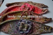 Stylish Knitted Headband Ear Muffs with Flower