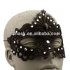 Black Hard Lace Party Masks With Rhinestone