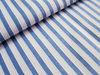 Popular 100% Cotton Yarn Dyed Jacquard Light Blue and White Stripe Fabric