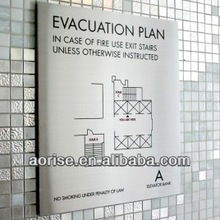 Aluminum WALL SIGN FOR OFFICE BUILDING