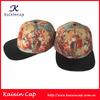 Classic Printing Flat Brim Snakeskin Leather Strap Cap And Crocodile Skin Hats
