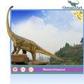 Fibra de vidro escultura de dinossauro, figura estátua para decoração ao ar livre