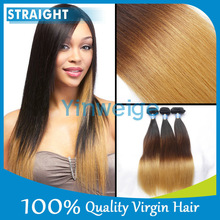 New Arrival Ombre Brazilian Hair Weave Three tone Human Hair Weaves