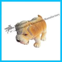 eco-friendly pvc mini cute dog toy for kids ,custom small plastic toy figures
